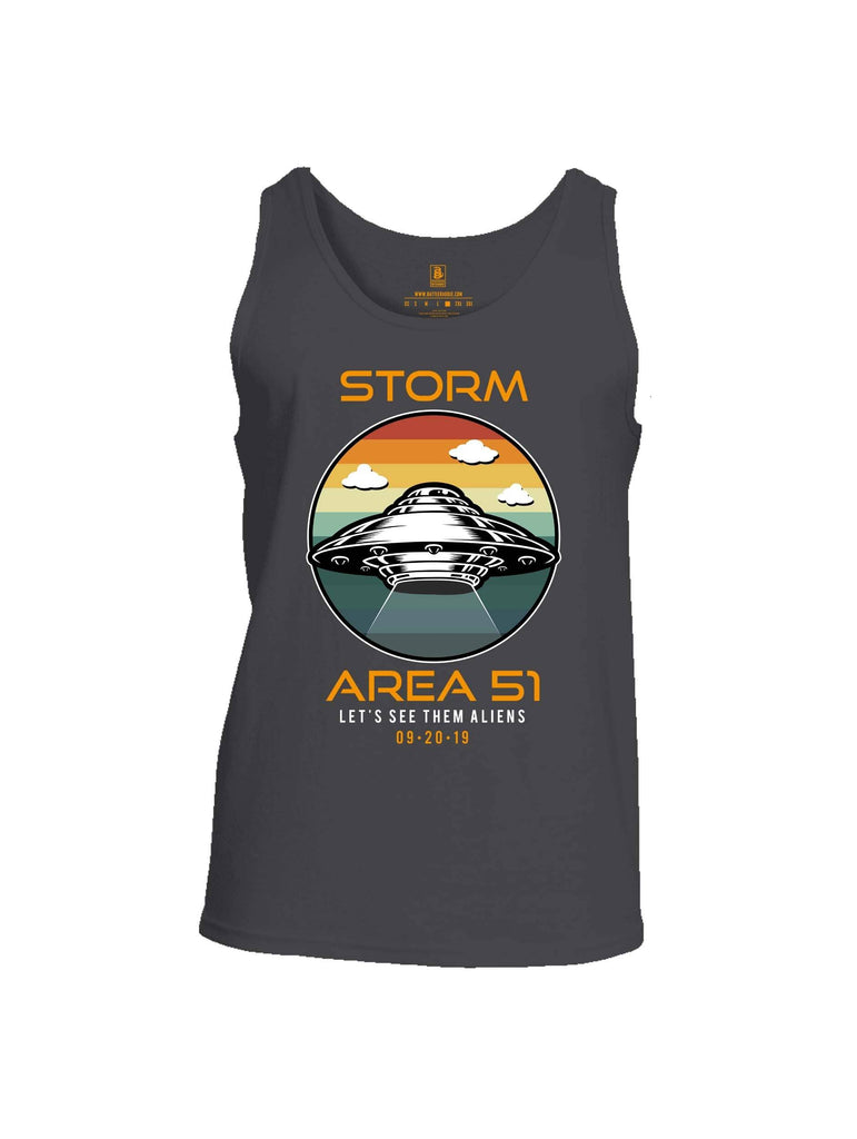 Battleraddle Storm Area 51 Lets See Them Aliens Mens Cotton Tank Top shirt|custom|veterans|Apparel-Mens Tank Top-Cotton
