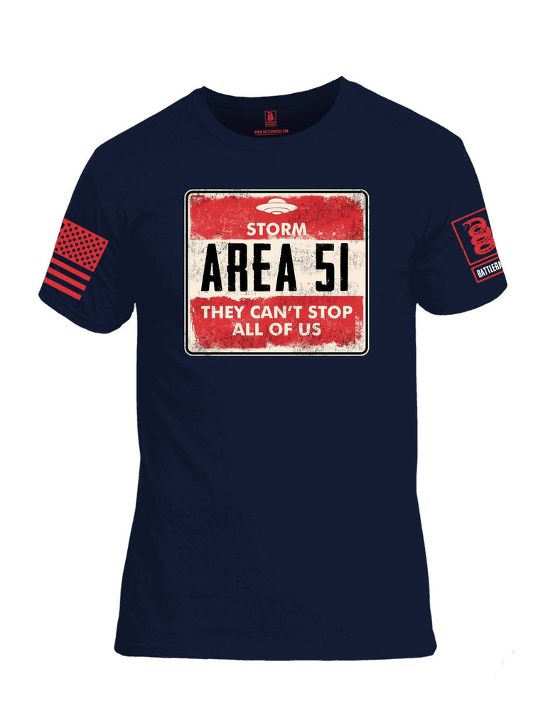 Battleraddle Storm Area 51 They Cant Stop All Of Us Red Sleeve Print Mens Cotton Crew Neck T Shirt shirt|custom|veterans|Apparel-Mens T Shirt-cotton