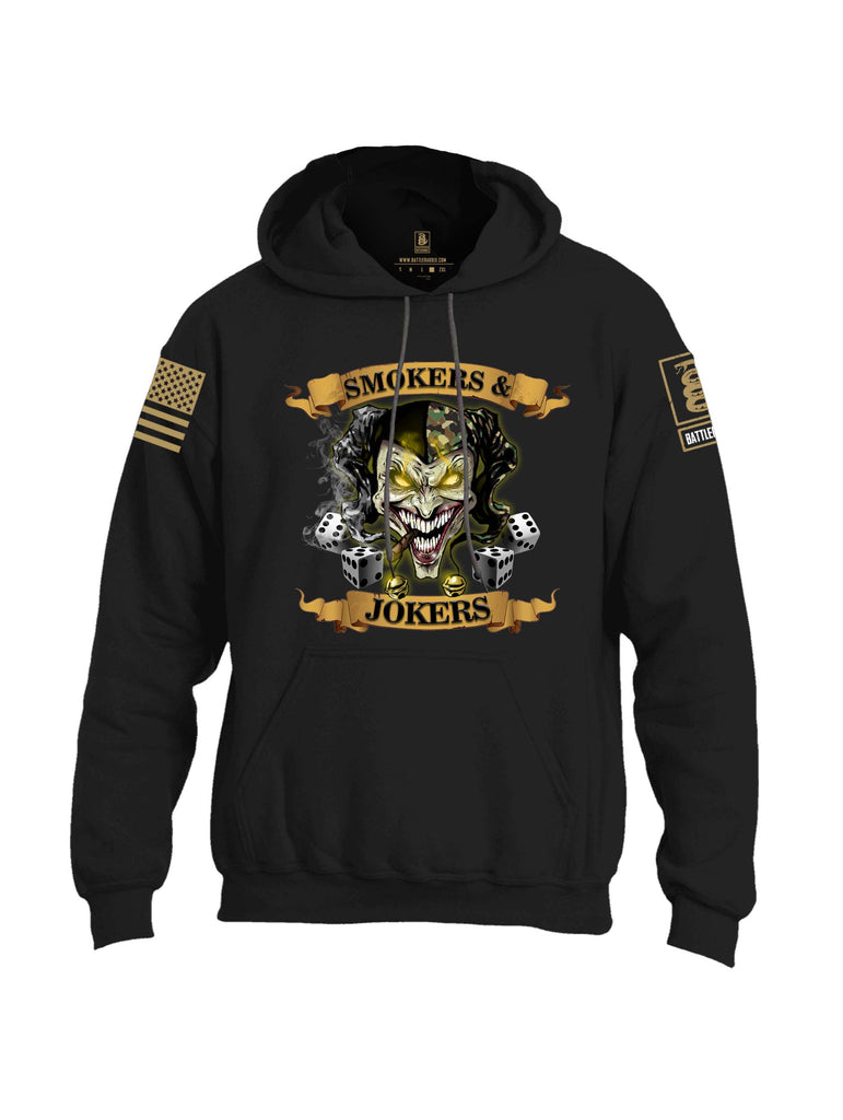 Battleraddle Smokers And Jokers Brass Sleeve Print Mens Blended Hoodie With Pockets