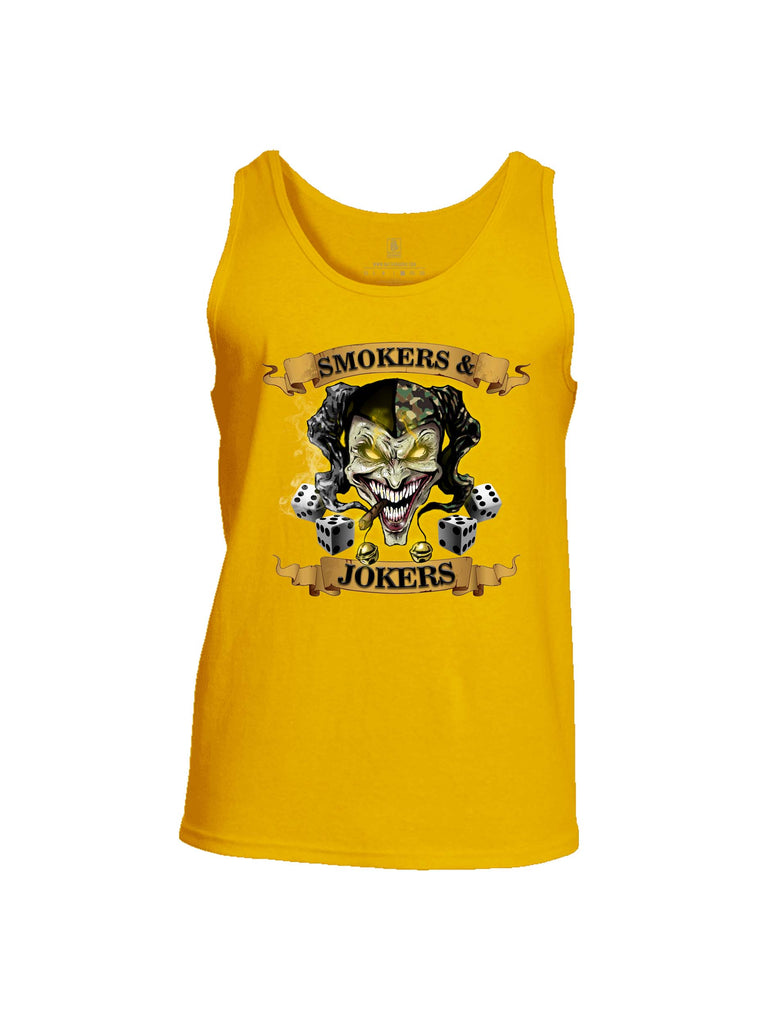 Battleraddle Smokers And Jokers Mens Cotton Tank Top