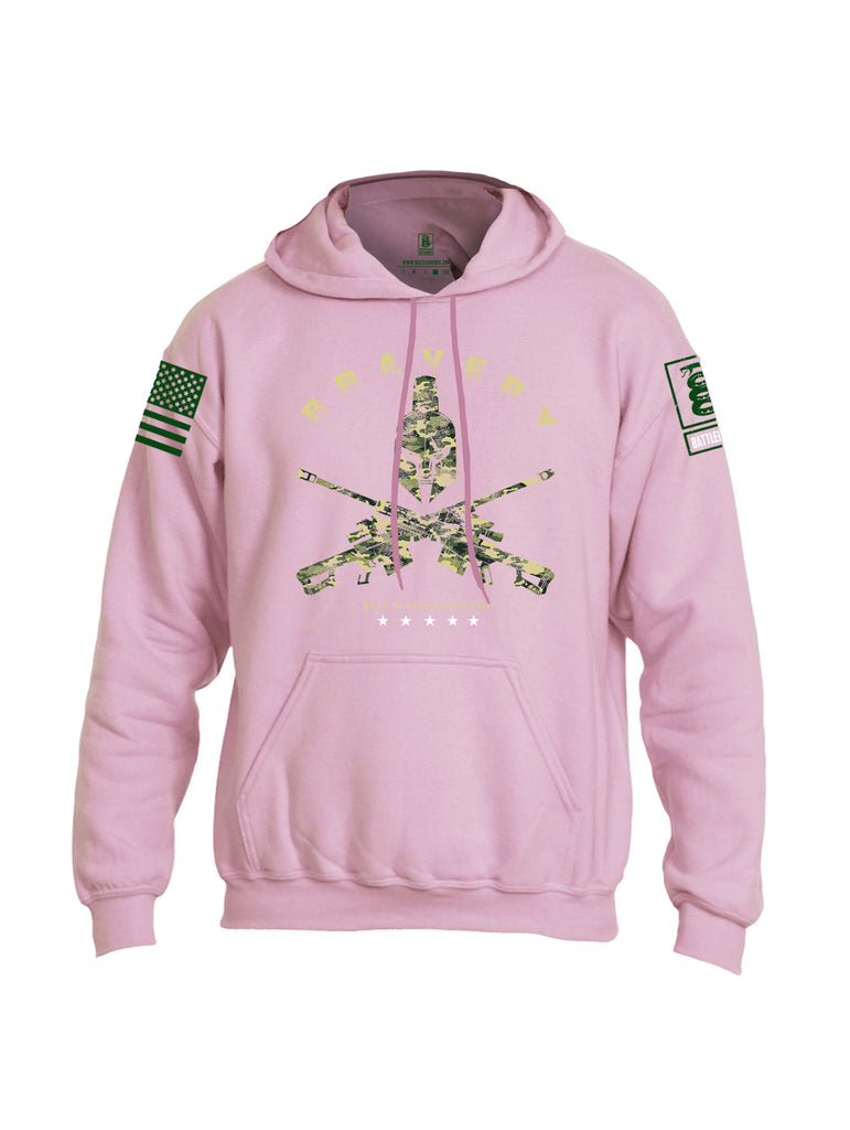 Battleraddle Bravery What Is Your Profession Dark Green Sleeve Print Mens Blended Hoodie With Pockets