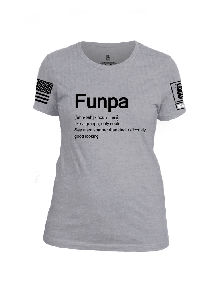 Battleraddle Funpa Black Sleeve Print Womens Cotton Crew Neck T Shirt