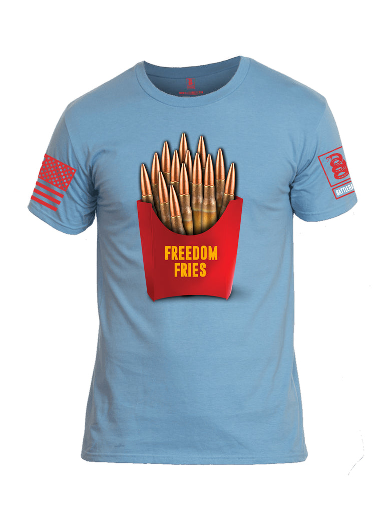 Battleraddle Freedom Fries Men Cotton Crew Neck T-Shirt