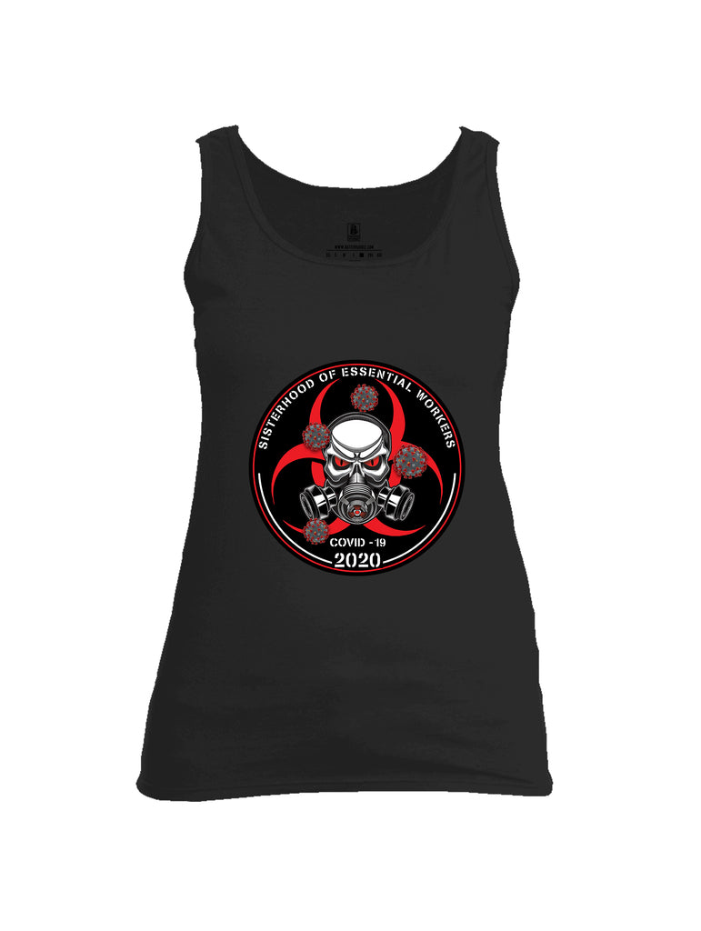 Battleraddle Sisterhood Of Essential Workers COVID 19 2020 Womens Cotton Tank Top