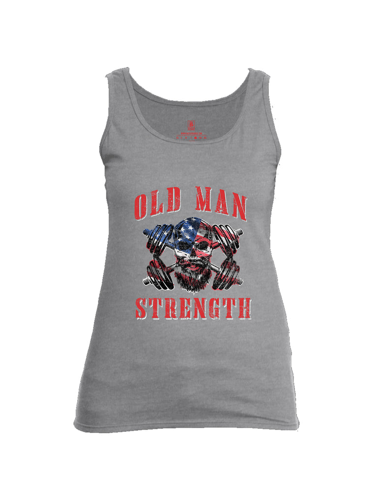 Battleraddle Old Man Strength Womens Cotton Tank Top
