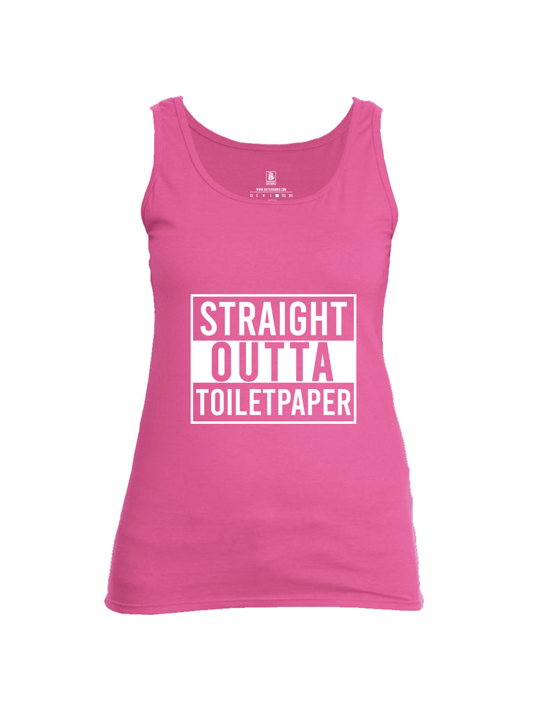 Battleraddle Straight Outta Toilet Paper Womens Cotton Tank Top