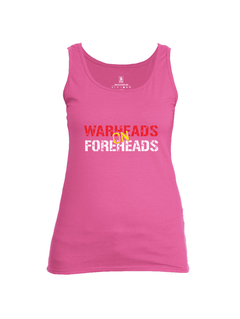 Battleraddle Warheads On Foreheads Womens Cotton Tank Top
