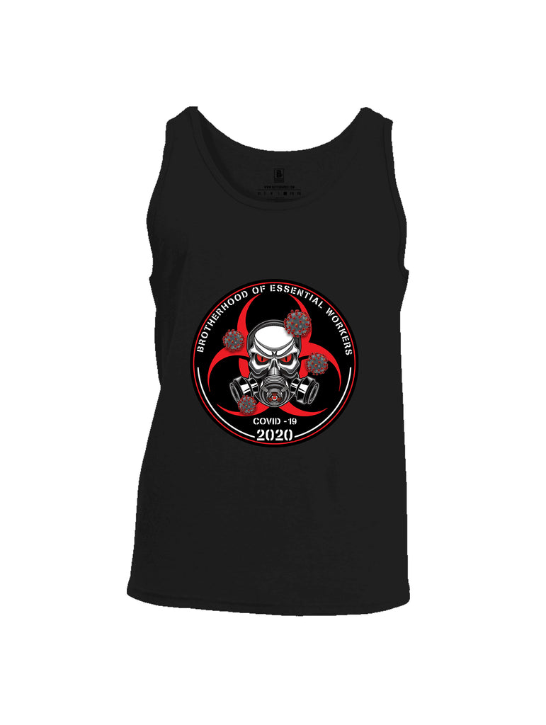 Battleraddle Brotherhood Biohazard Essential Workers COVID 19 2020 Mens Cotton Tank Top