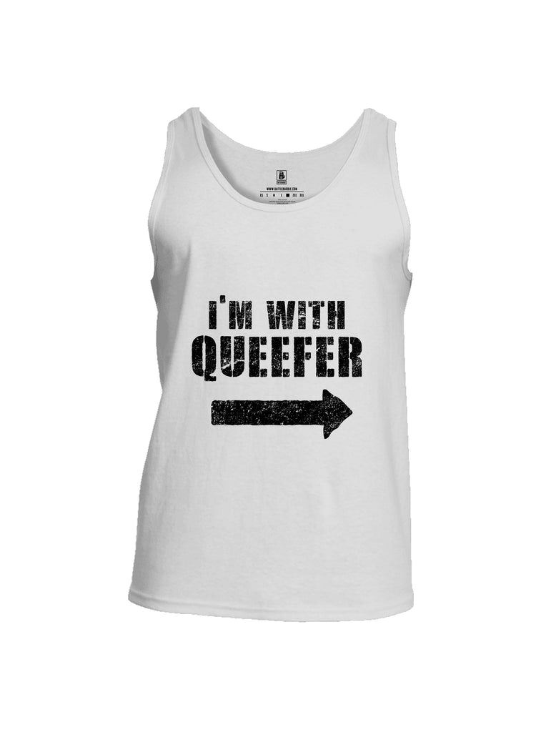 Battleraddle Im With Queefer Mens Cotton Tank Top