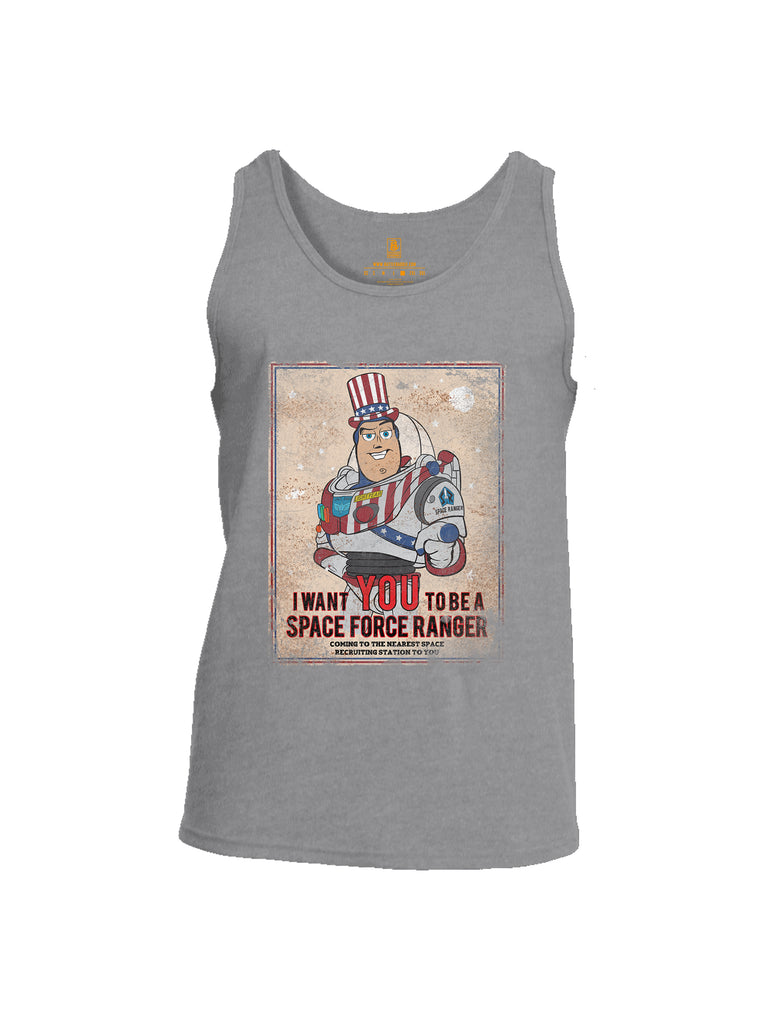 Battleraddle I Want You To Be A Space Force Ranger Mens Cotton Tank Top