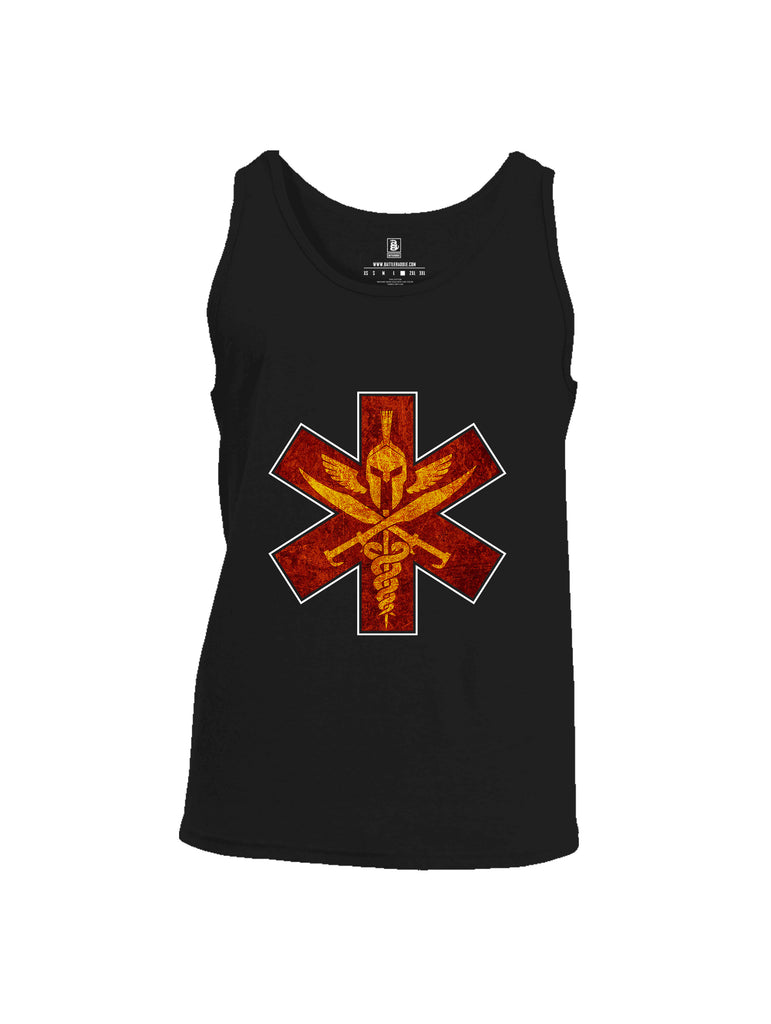 Battleraddle Spartan Cross Mens Cotton Tank Top