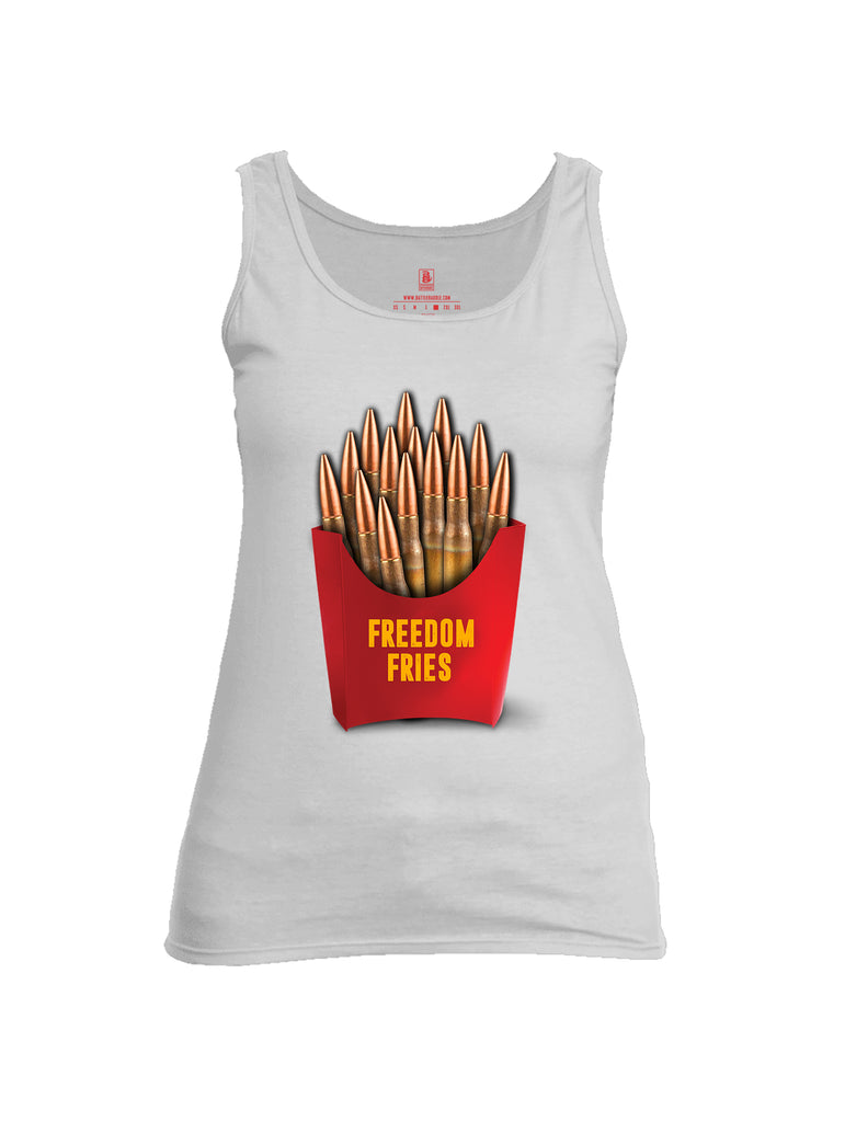 Battleraddle Freedom Fries Womens Cotton Tank Top
