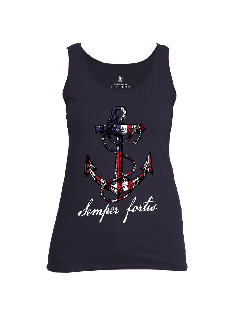 Battleraddle Semper Fortis Womens Cotton Tank Top