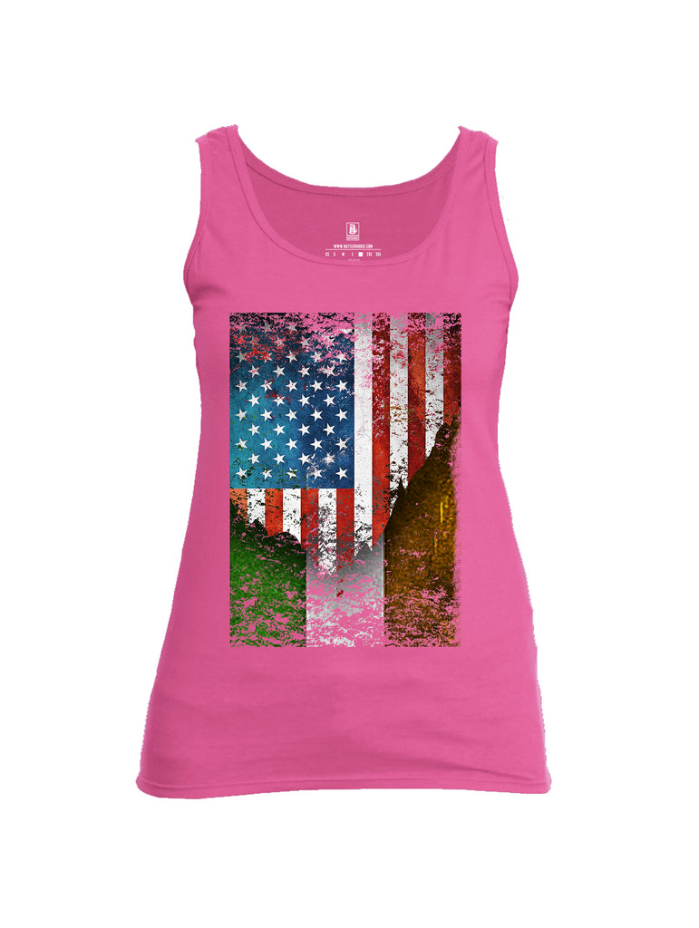 Battleraddle American Irish Flag Womens Cotton Tank Top