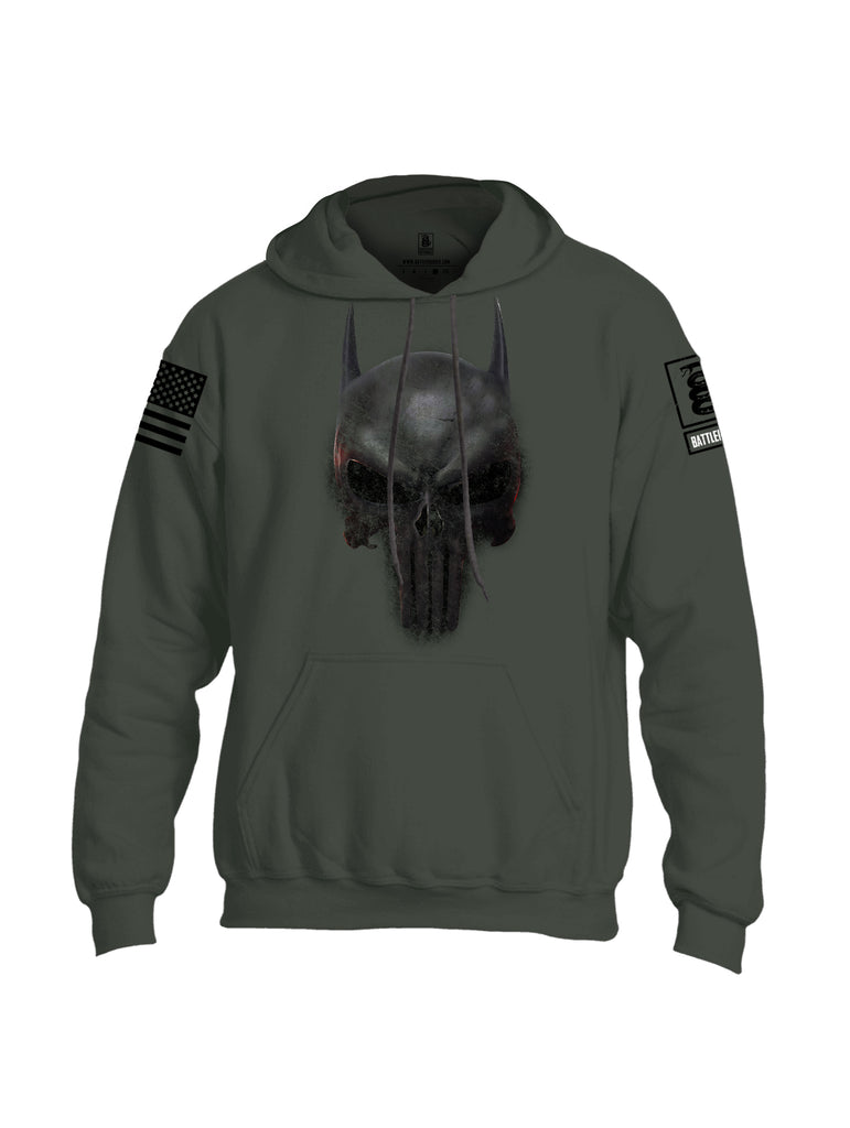 Battleraddle Mr. Vindicator Expounder Bat Black Sleeve Print Mens Blended Hoodie With Pockets