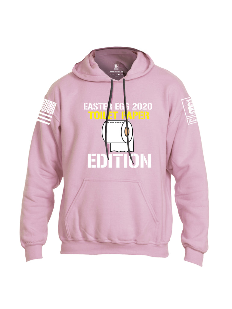 Battleraddle Easter Egg 2020 Toilet Paper Edition White Sleeve Print Mens Blended Hoodie With Pockets