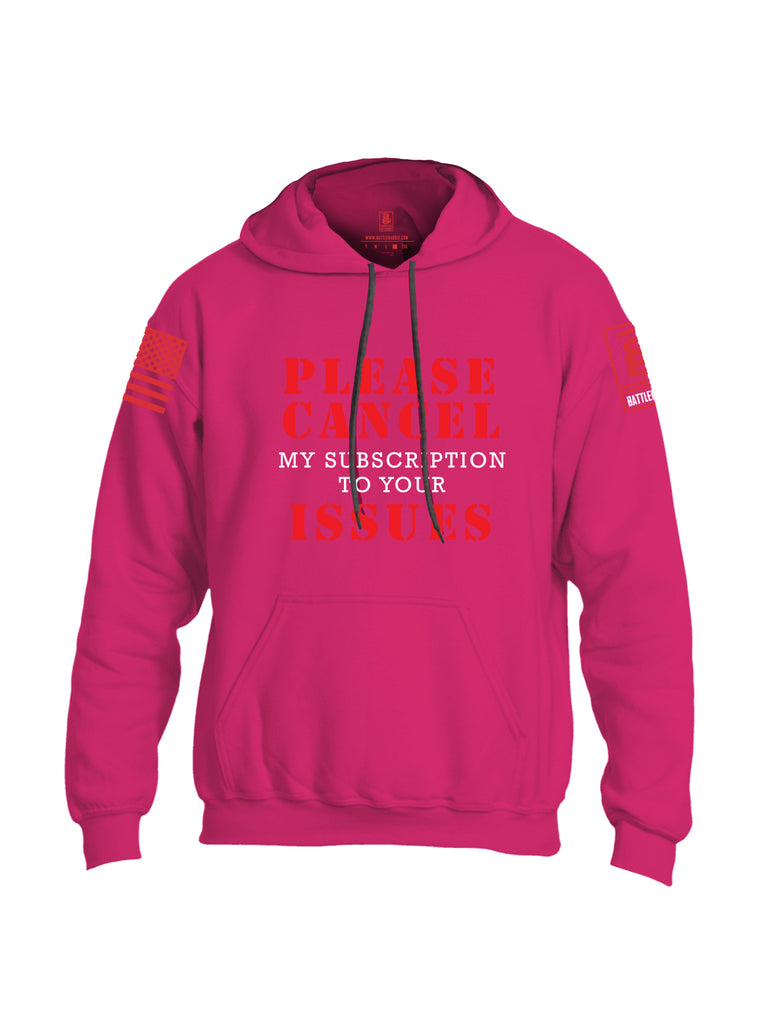 Battleraddle Please Cancel My Subscription To Your Issues Red Sleeve Print Mens Blended Hoodie With Pockets