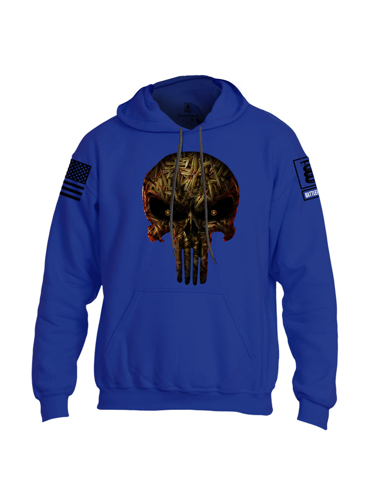 Battleraddle Expounder Bullet Rounds Black Sleeve Print Mens Blended Hoodie With Pockets