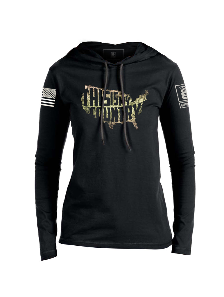 Battleraddle This is My Country Womens Thin Cotton Lightweight  Hoodie