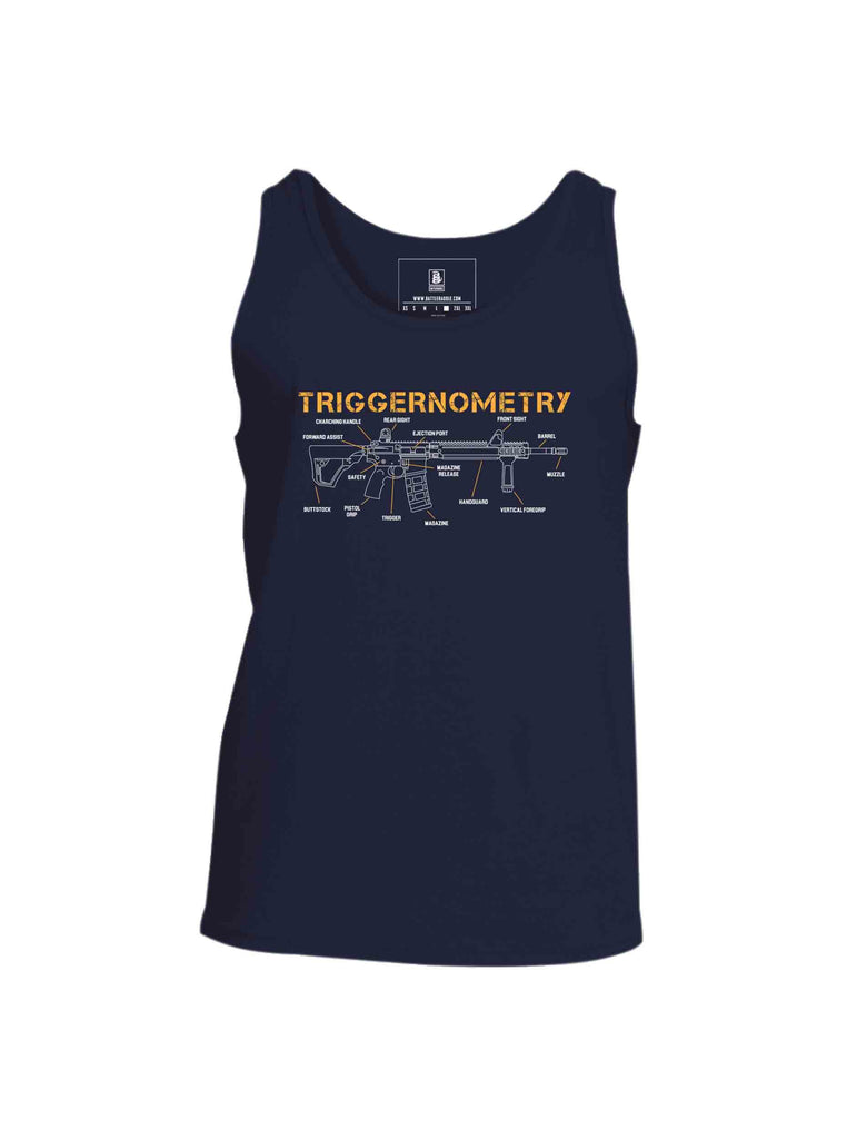 Battleraddle Triggernometry Mens Cotton Tank Top-navy