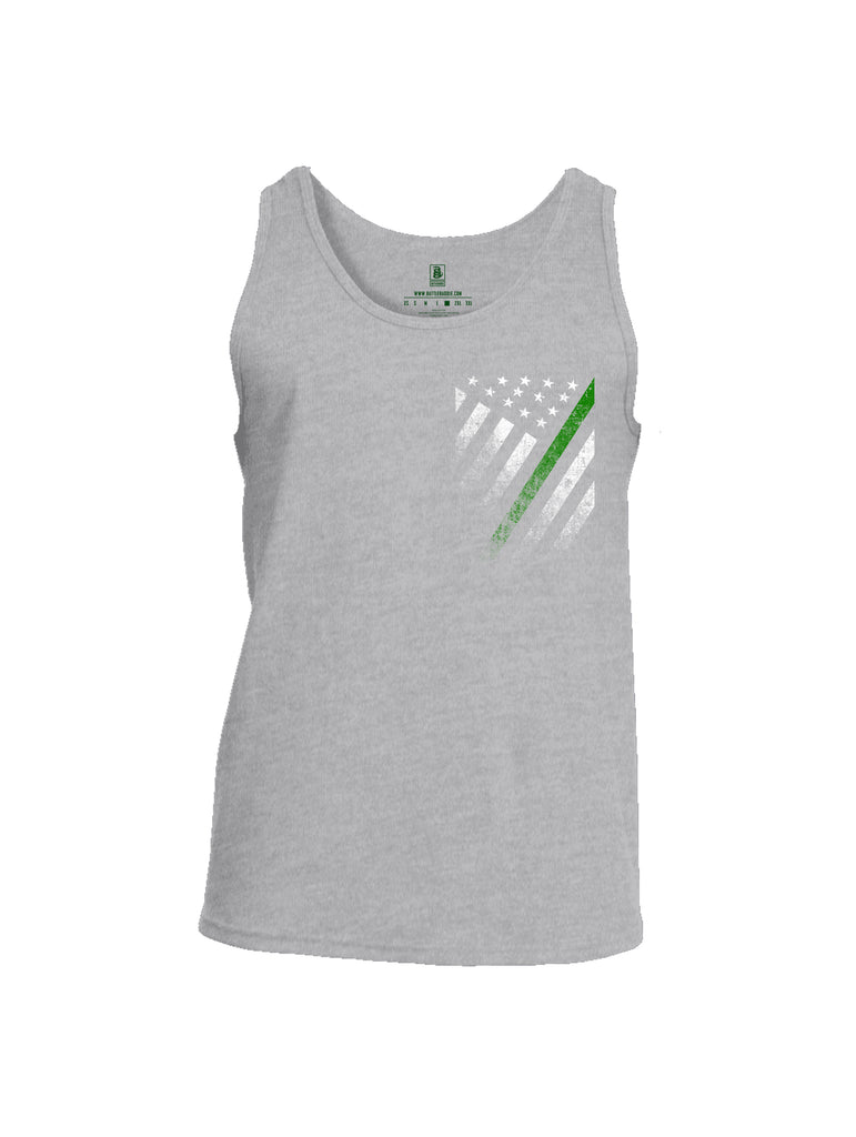 Battleraddle USA Green Thin Line Series Flag Mens Cotton Tank Top