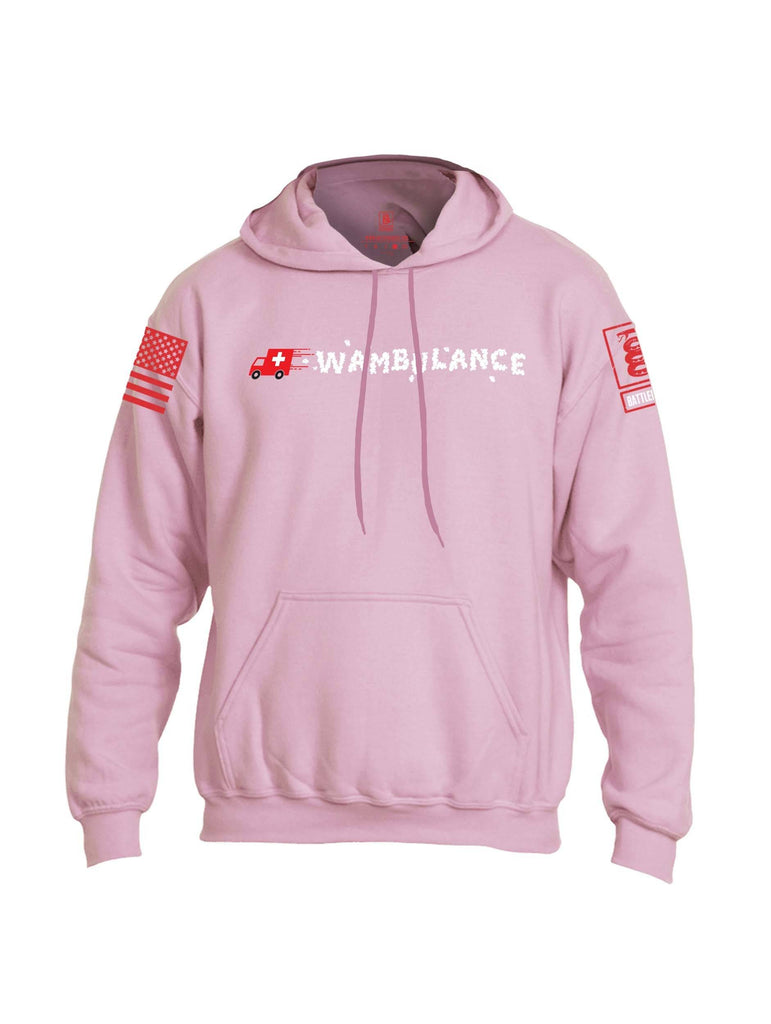 Battleraddle Wambulance Red Sleeve Print Mens Blended Hoodie With Pockets shirt|custom|veterans|Apparel-Mens Hoodies-Cotton/Dryfit Blend