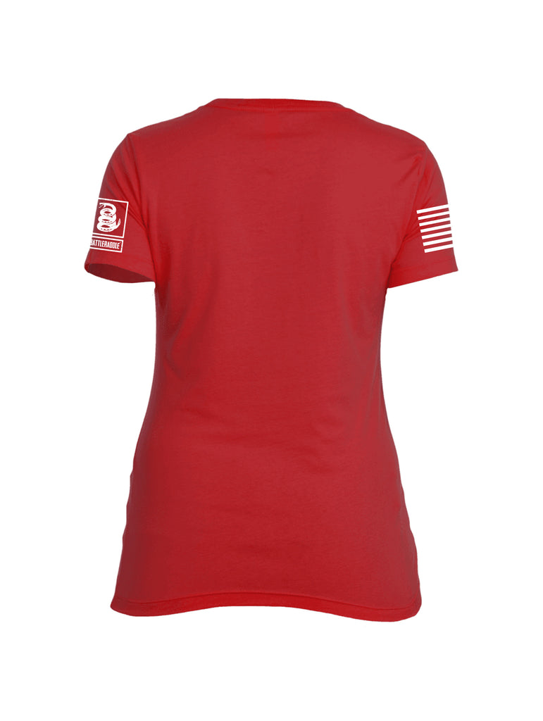 Battleraddle Horizontal Four Blocks Flag Womens Crew Neck T Shirt