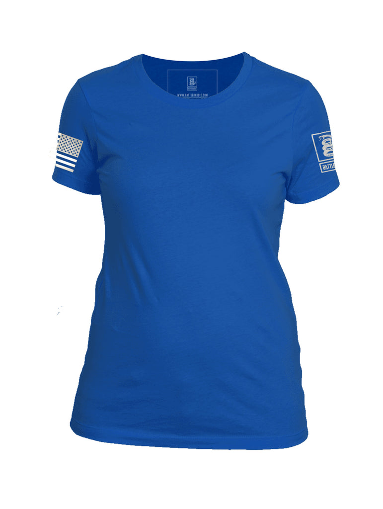 Battleraddle Basic Line Sleeve Print Womens Cotton Crew Neck T Shirt - Battleraddle® LLC