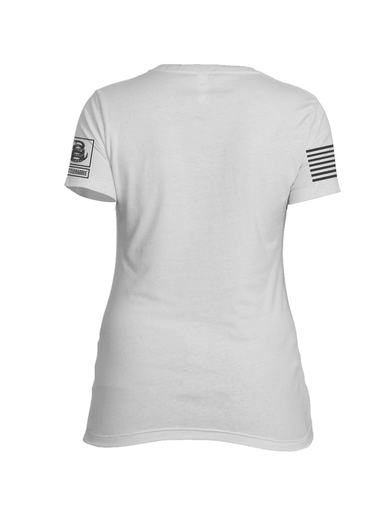 Battleraddle Gun and Bullet Flag Bullet Hole Womens Cotton Crew Neck T Shirt
