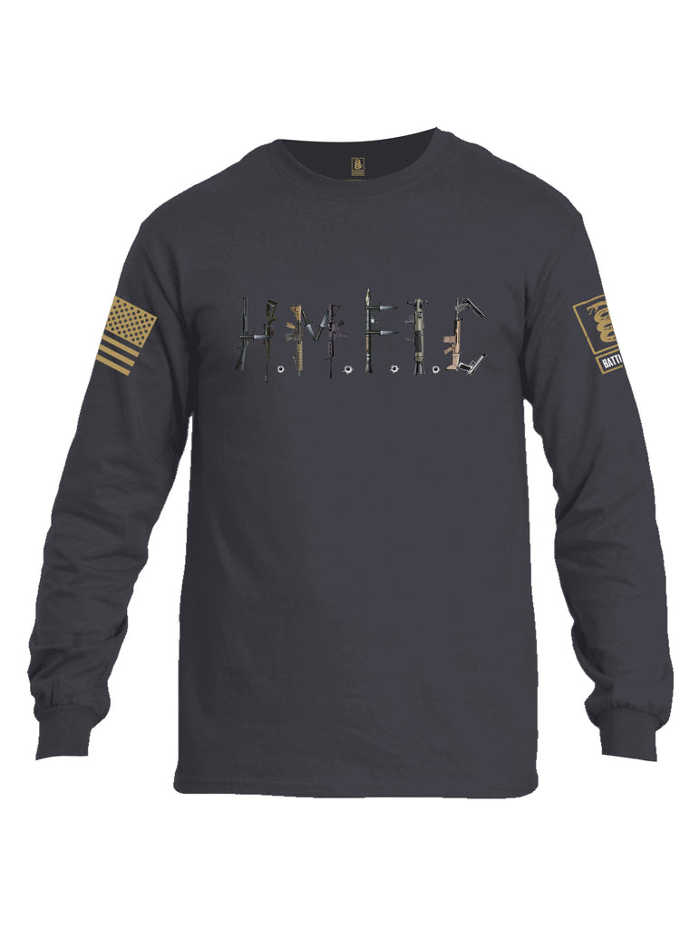 Battleraddle Hmfic Rifles {sleeve_color} Sleeves Men Cotton Crew Neck Long Sleeve T Shirt