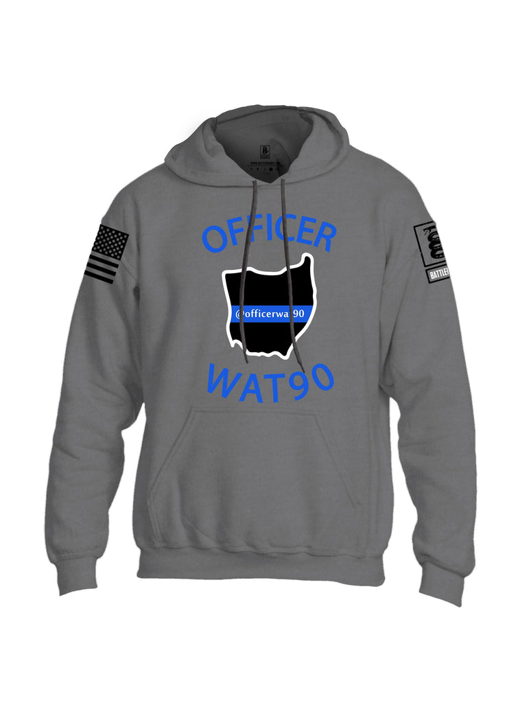 Battleraddle Officer Wat90 {sleeve_color} Sleeves Uni Cotton Blended Hoodie With Pockets