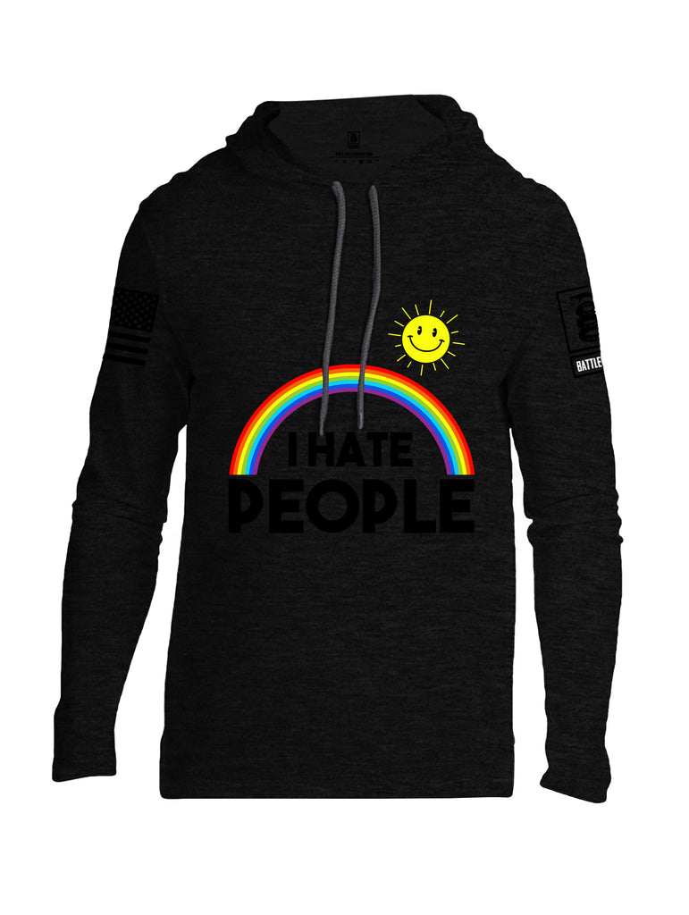 Battleraddle I Hate People {sleeve_color} Sleeves Men Cotton Thin Cotton Lightweight Hoodie