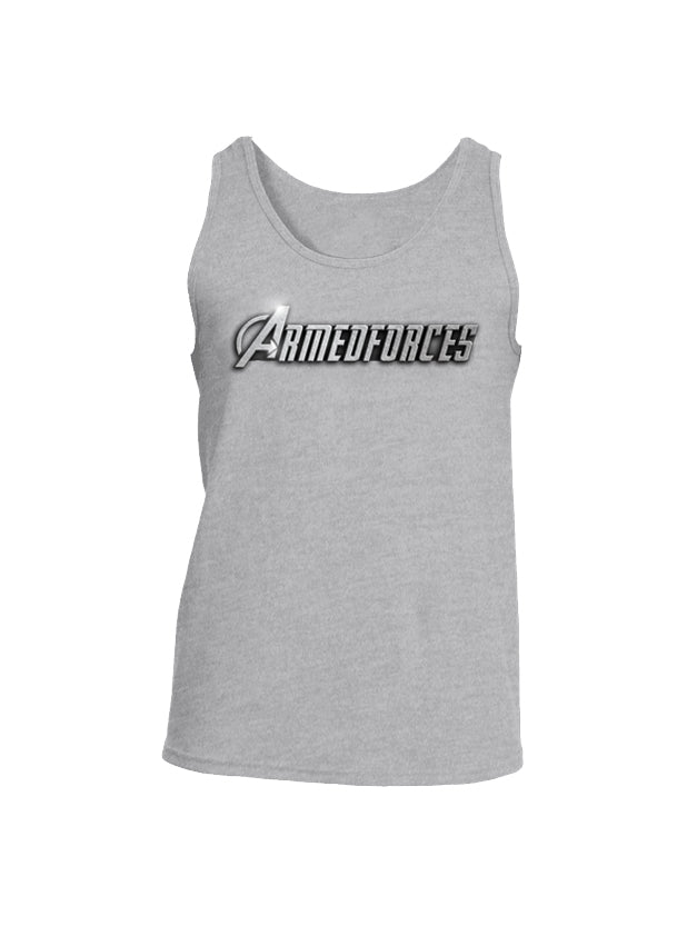 Battleraddle Avenger Armed Forces Superhero Tribute Mens Cotton Tank Top - Battleraddle® LLC
