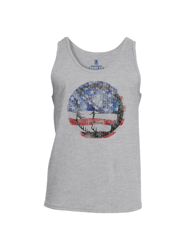 Battleraddle Super Smash Fist Flag Mens Cotton Tank Top