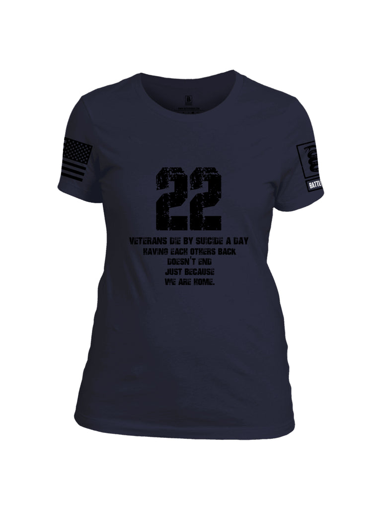 Battleraddle 22 A Day Black {sleeve_color} Sleeves Women Cotton Crew Neck T-Shirt
