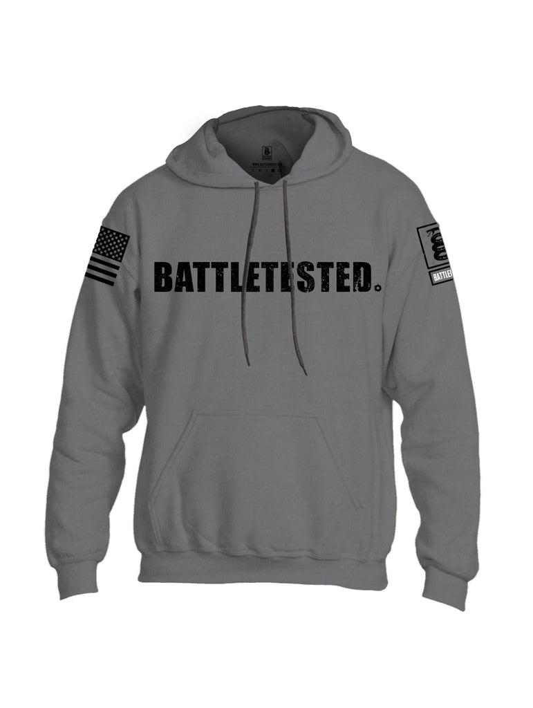 Battleraddle Battletested Black {sleeve_color} Sleeves Uni Cotton Blended Hoodie With Pockets