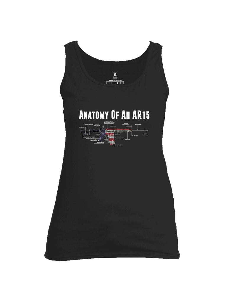 Battleraddle Anatomy Of An AR15 Womens Cotton Tank Top