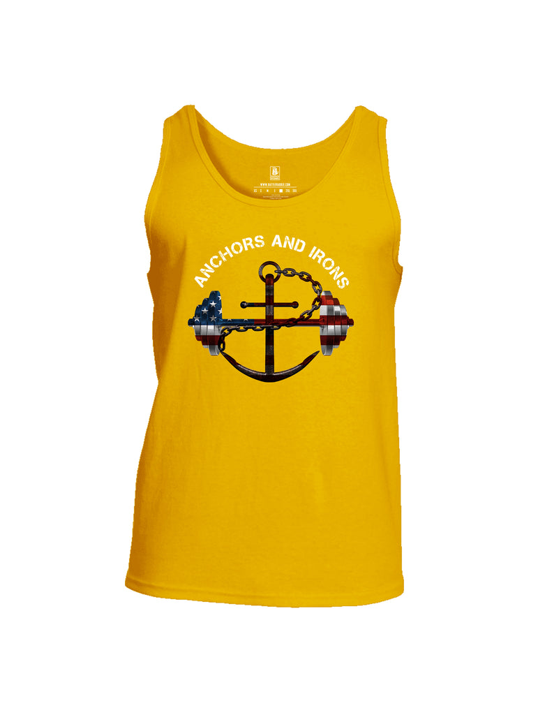 Battleraddle Anchors and Irons Mens Cotton Tank Top