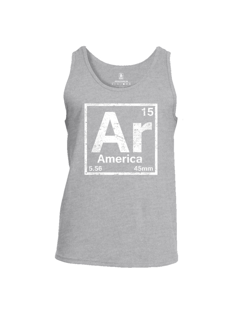 Battleraddle Periodic Table Of Elements Ar 15 5.56 45mm America V1 Mens Cotton Tank Top