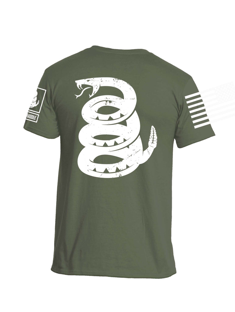 Battleraddle Are You Battle Ready Snake On Back Mens Cotton Crew Neck T Shirt - Battleraddle® LLC