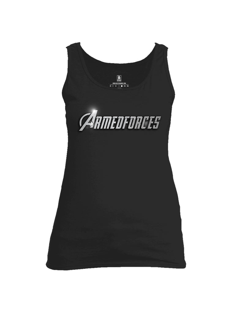 Battleraddle Avenger Armed Forces Superpatriot Tribute Womens Cotton Tank Top