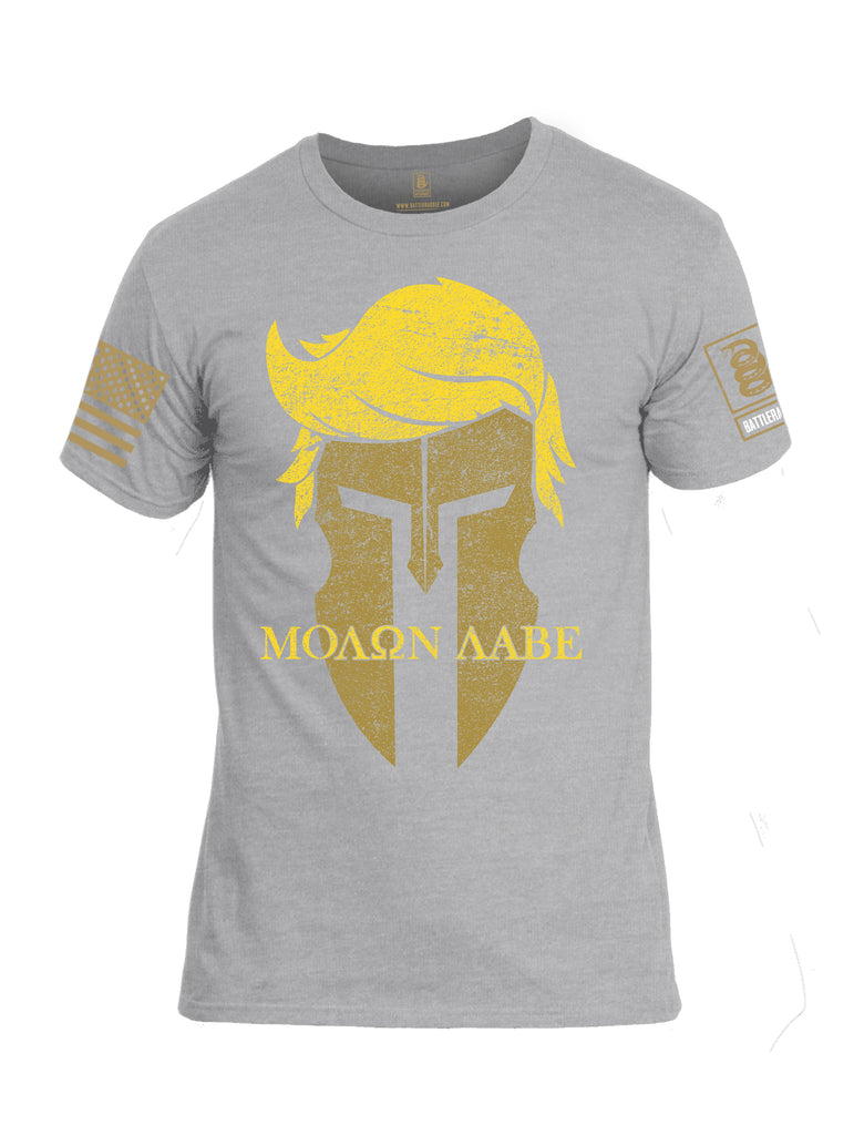 Battleraddle Trump Spartan Molon Labe {sleeve_color} Sleeves Men Cotton Crew Neck T-Shirt