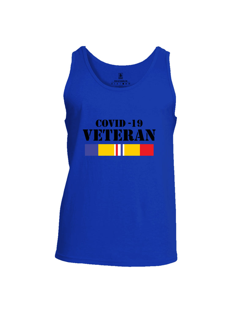 Battleraddle Covid 19 Veteran {sleeve_color} Sleeves Men Cotton Cotton Tank Top