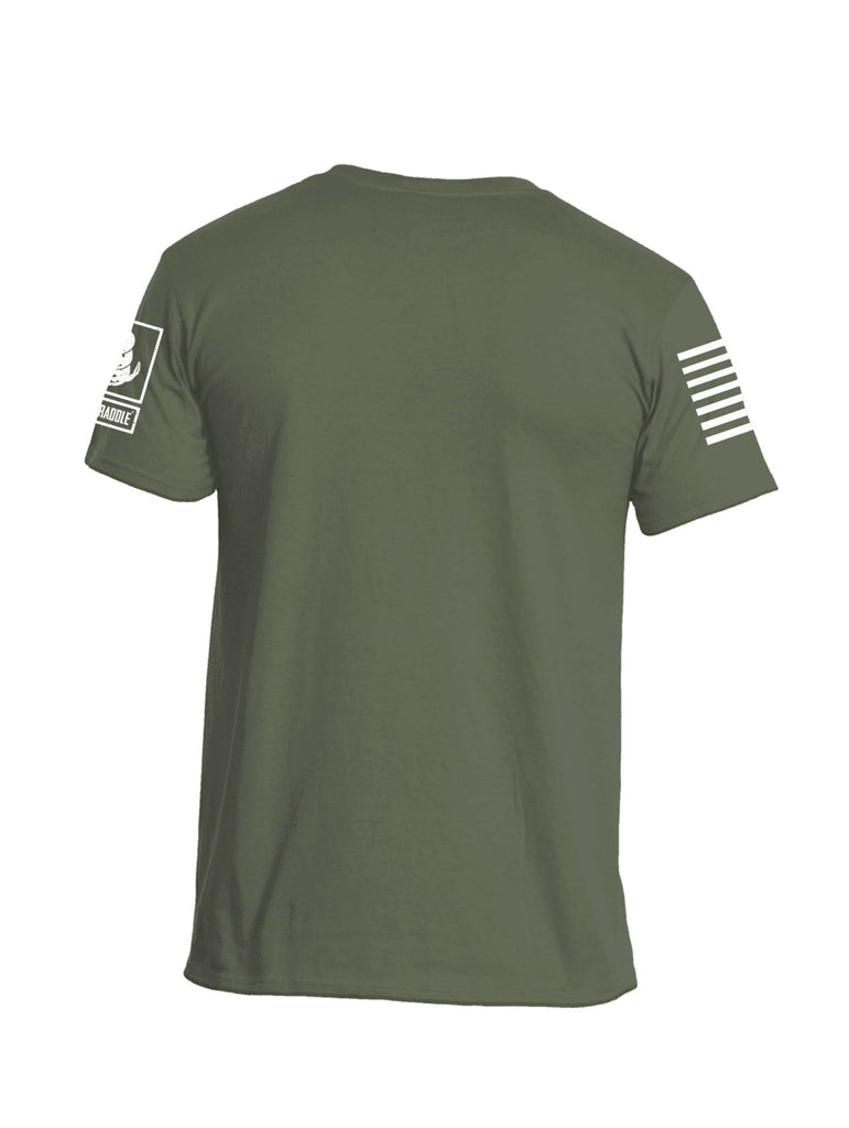 Battleraddle Vertical Four Blocks Flag Mens Crew Neck Cotton T Shirt