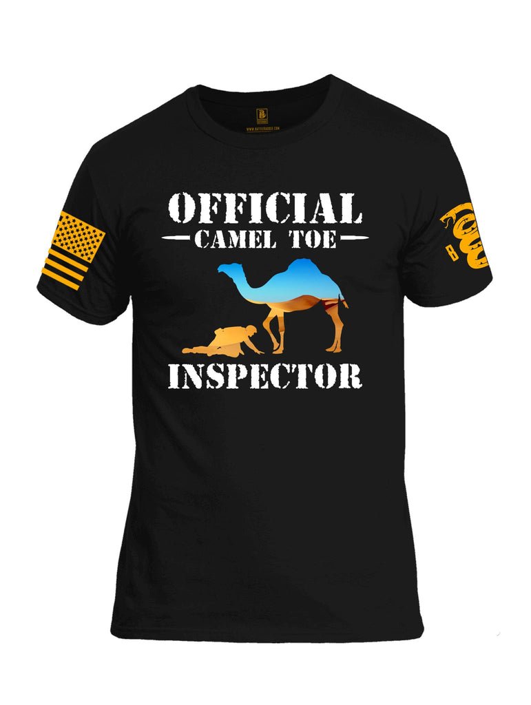 Battleraddle Official Camel Toe Inspector Orange Sleeve Print Mens Cotton Crew Neck T Shirt