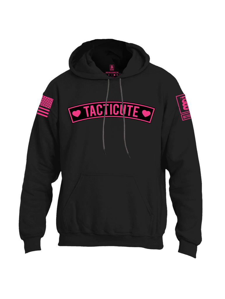 Battleraddle Tacticute Pink Sleeve Print Mens Blended Hoodie With Pockets
