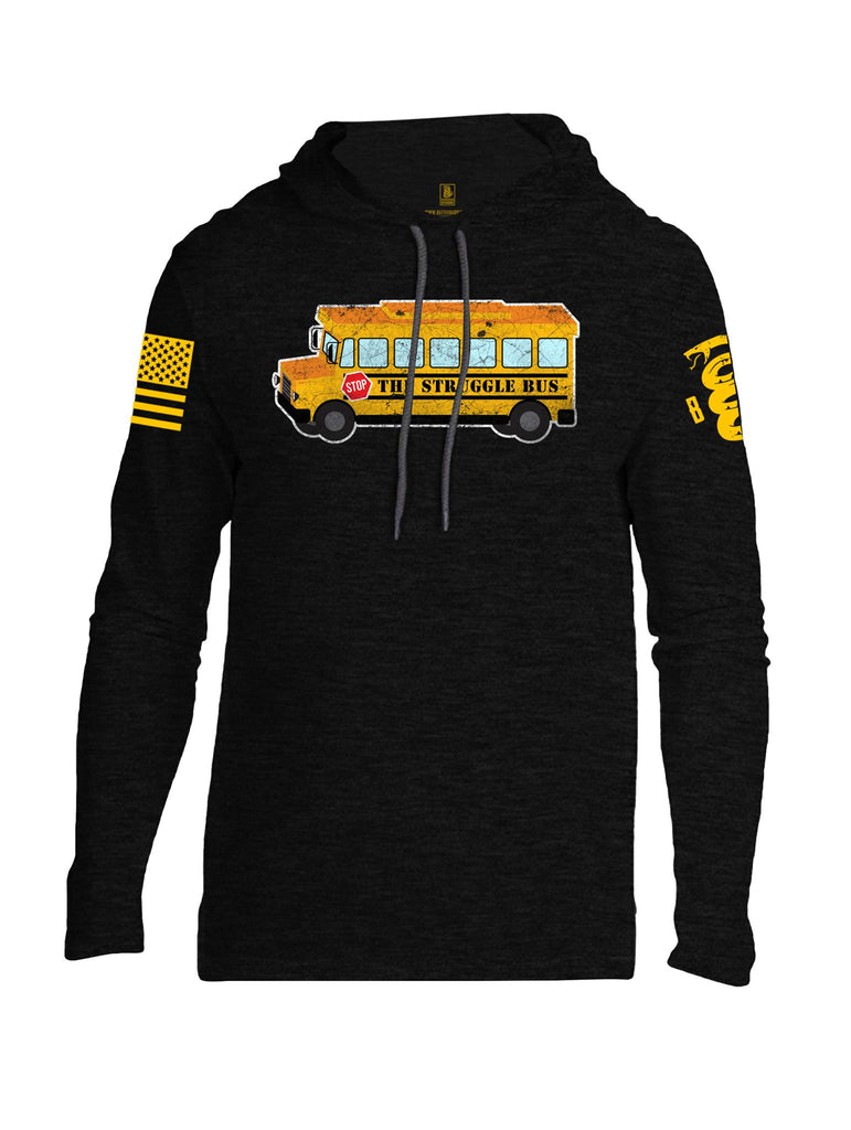 Battleraddle The Struggle Bus Yellow Sleeve Print Mens Thin Cotton Lightweight Hoodie