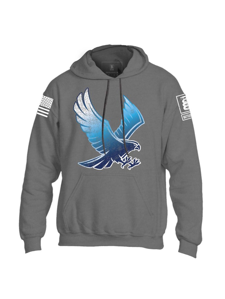 Battleraddle Blue Falcon Mens Blended Hoodie With Pockets - Battleraddle® LLC