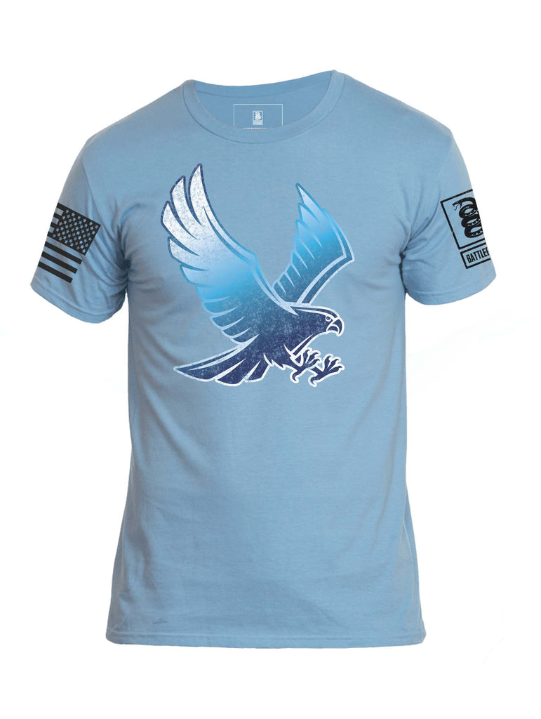 Battleraddle Blue Falcon Mens Crew Neck Cotton T Shirt - Battleraddle® LLC