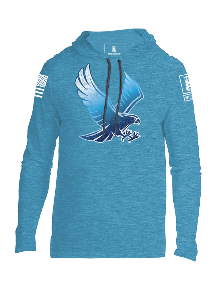 Battleraddle Blue Falcon Mens Thin Cotton Lightweight Hoodie - Battleraddle® LLC